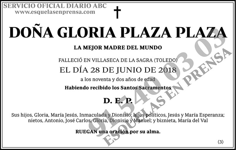 Gloria Plaza Plaza